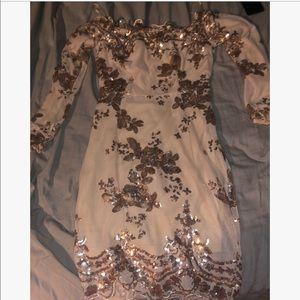 Dresses & Skirts - Glitter Flower Tight Dress